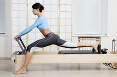 pilates splits machine | got so excited to work on the reformer after I saw these pictures.