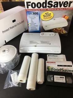 FoodSaver Vac 800 Vacuum Sealing Kit White Sealers Homesteading Food Prep | eBay