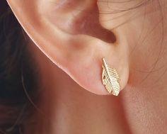 Trendy Fallen Leaves Studs Earrings for Women Fashion Women Feather Earrings Jewelry in color gold/silver/rose gold