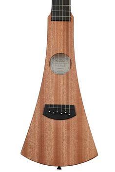 6-string Acoustic Travel Guitar, Left-handed, with Sapele Top, Back, and Sides, Hardwood Neck, and Richlite Fretboard - Natural #TravelGuitar