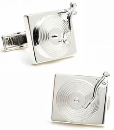 Sterling Turntable Cufflinks