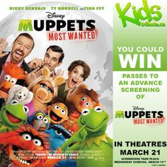 Contest ~ Enter to Win Tickets to See An Advance Screening of Muppets Most Wanted ! - Fru-Gals