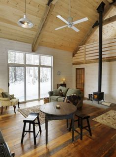 White Washed Pine Walls Design, Pictures, Remodel, Decor and Ideas Farmhouse Living Room Furniture, Farmhouse Bedroom Decor, Farmhouse Interior, Modern Farmhouse, Cabin Design, House Design, Cottage Design, Floor Design, White Washed Pine