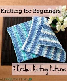 Knitting for Beginners: 3 Kitchen Knitting Patterns   AllFreeKnitting.com