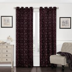 Amazon.com: Eclipse Patricia Blackout Grommet Curtain Panel, 63-Inch, Chocolate: Home & Kitchen