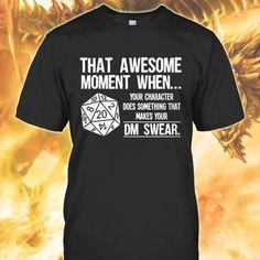 Dungeons and Dragons Memes's photo. Gamer Humor, Nerd Humor, Funny Humor, Funny Stuff, Cool Shirts, Funny Shirts, Tee Shirts, Mode Geek, Dungeons And Dragons Memes