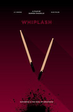 Whiplash (2014) ~ Minimal Movie Poster by Chun-Yao Peng #amusementphile