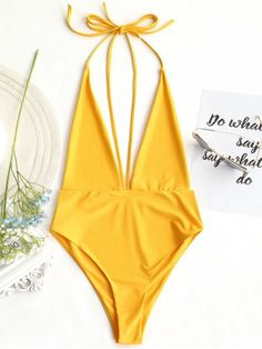 Up to 80% OFF! Plunging Neck Open Back Bralette Swimwear. #Zaful #Swimwear #Bikinis zaful,zaful outfits,zaful dresses,spring outfits,summer dresses,Valentine's Day,valentines day ideas,cute,casual,fashion,style,bathing suit,swimsuits,one pieces,swimwear,bikini set,bikini,one piece swimwear,beach outfit,swimwear cover ups,high waisted swimsuit,tankini,high cut one piece swimsuit,high waisted swimsuit,swimwear modest,swimsuit modest,cover ups,swimsuit cover up @zaful Extra 10% OFF Code:ZF2017