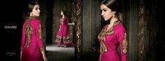 its embroidered  work long suit with beautiful color