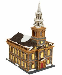 Department 56 Christmas in the City - St. Paul's Chapel Collectible Figurine - Retired