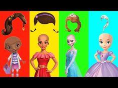 Disney Princess Slime Bath Surprises LEARN Colors - YouTube