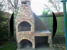 Grill murowany z cegły (żółtej rozbiórkowej)
