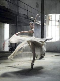 Abandoned buildings, ballet, beautiful swirling skirts, what's not to love?