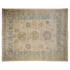 "Check out this item at One Kings Lane! 8'2""x10'1"" Efa Rug, Ivory"