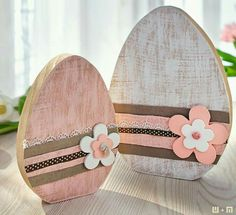 Wood Cubes For Crafts - Easter wood crafts - Diy Osterschmuck, Easy Diy, Spring Crafts, Holiday Crafts, Holiday Decor, Easter Crafts For Adults, Hoppy Easter, Easter Eggs, Easter Bunny