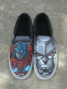 Transformers Custom Shoes Hand Painted Slipons  #transformers #transformersshoes #optimusprime #optimusprimeshoes #megatron #megatronshoes #marvel #customconverse #paintedshoes #fashion