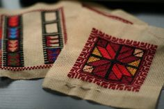 Tatreez: Palestinian cross stitch to show village associations. cool article.
