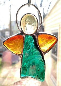 Stained Glass Dalle de Verre Angel Suncatcher
