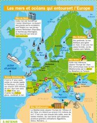 Les mers et océans qui entourent l'Europe - Mon Quotidien, le seul site d'information quotidienne pour les 10-14 ans !