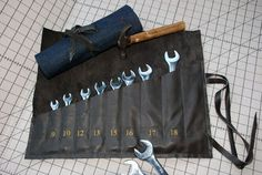 Organize your wrenches, chisels, paintbrushes, or whatever you're into with these quick tool rolls. Whether you make the luxe version out of leather or the durable standby out of denim, your tools will be organized and ready to go when you need them!