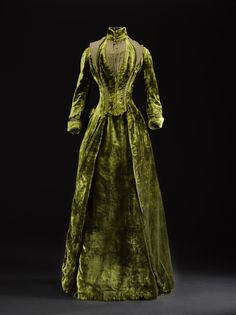 Silk Velvet Afternoon Dress, ca. 1885-88 Gowan and Strachan