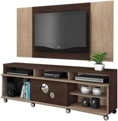 Rack Bancada Hanover E Painel Extensível Para Tv - Dj Móveis - R$ 555,00