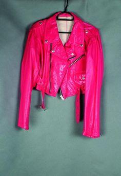 hot pink biker jacket!!!!!!