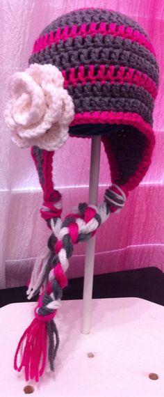 Crochet baby girl hat on Etsy, $18.00