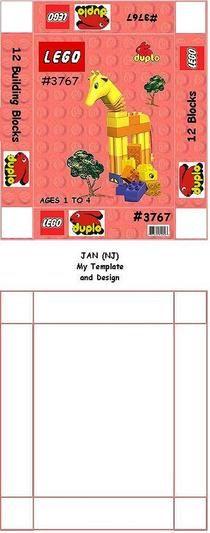 mini paper Lego box