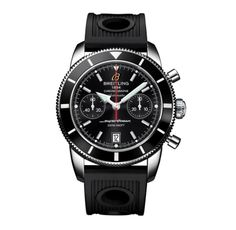 A2337024/BB81-ORD : Breitling Automatic COSC Black Chronograph Dial Ocean Racer Black Rubber Band Watch #A2337024/BB81-ORD (Men Watch), Breitling Superocean Heritage @ www.Bodying.com