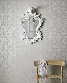 50-460 Graham & Brown Mystical: Silver/Gray Silver,Grey Geometric Wallpaper