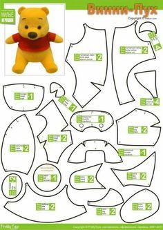 winnie the pooh stuffed toy stuffed animal teddy bear pattern free