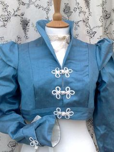 Something blue + Regency! Blue silk spencer jacket and reticule!