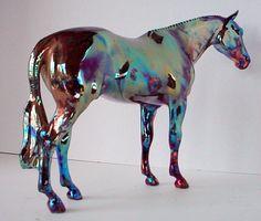 Raku Porcelain Ceramic Model Horse by lakeshorecollection on Etsy, $170.00