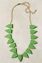 INSPIRATION: Wooden Pennant Necklace
