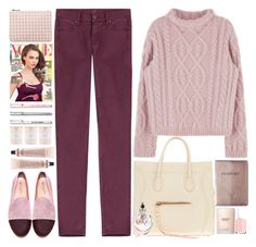 """""""Today's colors"""" by doga1 ❤ liked on Polyvore featuring 7 For All Mankind, Del Toro, CÉLINE, Estée Lauder, Essie, Kate Spade, Valentino and Grown Alchemist"""