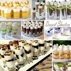 Dessert Shooters (from Exclusively Weddings on Facebook)