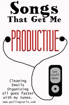 That Help Me Be Productive Some good music really helps you get down to BUSINESS. What songs inspire you to get busy?Some good music really helps you get down to BUSINESS. What songs inspire you to get busy? Deep Cleaning Tips, Cleaning Hacks, Singing Tips, Singing Lessons, Simple Life Hacks, Read Later, Motivation, Getting Things Done, Things To Know