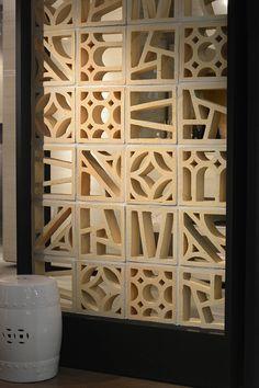 Urban Industrial Decor To A Stunning Place Partition Design, Facade Design, Hall Design, Breeze Block Wall, Urban Loft, Ideias Diy, Interior Decorating, Interior Design, Concrete Blocks