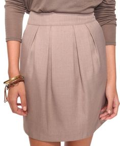 pleated woven shirt- taupe $19.80