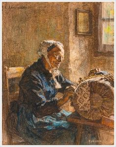 Leon Augustin LHermitte (French, 1844-1925) «The old lacemaker» - Bobbin lace - Wikipedia, the free encyclopedia