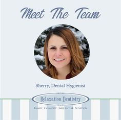Meet Sherry, one of our dental hygienists! Sherry strives to provide gentle dental cleanings and hopes that each appointment ends with her patient feeling confident they are on the right track toward a lifelong healthy smile. Outside of work Sherry and her husband live an active lifestyle. Thank you for all you do, Sherry!  #relaxationdentistry #meetheteam #team #dentalhygienist #cleanteeth #thankyou #healthy #smile #confident #healthysmile #mondaymotivation