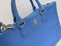 shopgoodwill.com: Tory Burch Blue Tote Bag Authenticated
