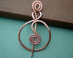 Little Celtic Infinity Loops Copper Shawl Pin, Scarf Pin, Sweater Brooch Closure Celtic Pin Gifts for Knitter, Lace Shawl Pin Accessories Knitting Accessories, Hair Accessories, Celtic Braid, Beautiful Diamond Rings, Brass Jewelry, Jewellery, Finger Weights, Hair Sticks, Wire Wrapped Jewelry