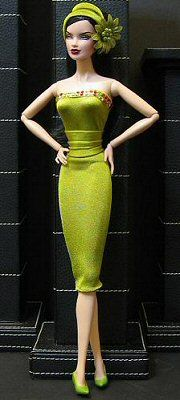 """Doll Divas Boutique - Exclusive fr """"OVAZ - IFDC Cocktail Hour Collection""""  Included w each fashion is: Dress, Shoes, Purse, Earrings, Drink menu.   This dress 'Apple Martini' $45 + $7 shipping to US.  Paypal or other arrangement w/OVAZ  Order: dolldivasmoderator@yahoo.ca"""