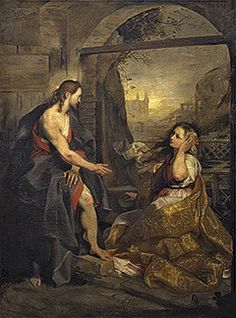 'Christ and Mary Magdalene' ('Noli me tangere') from the Uffizi Gallery, Florence Noli Me Tangere, Fine Art Prints, Framed Prints, Canvas Prints, Jesus Ressuscité, Mary Of Bethany, Mary Magdalene And Jesus, Religious Paintings, Religious Art