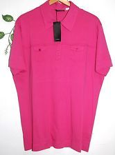 Nanibon Pink Mens Casual Cotton Italian Shirt Size 3XL NEW T-Shirt Style Solid