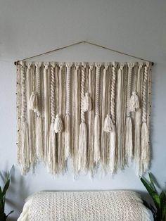 48 Large macramé wall hanging/Woven wall hanging/Yarn