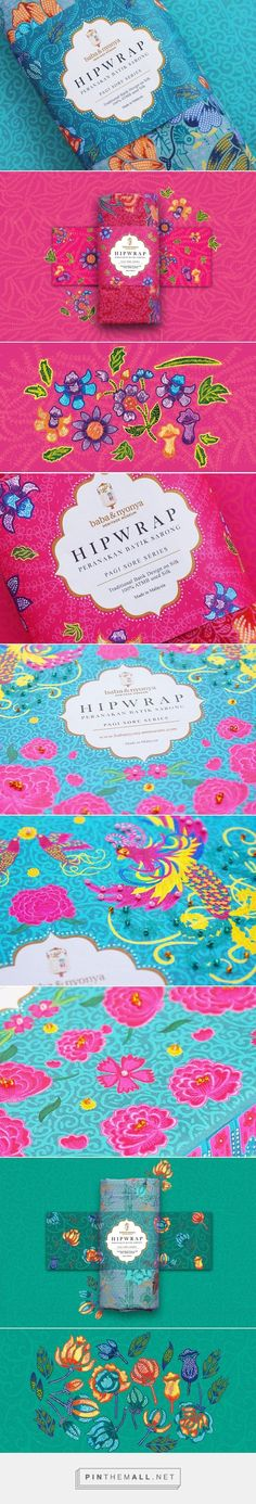 Peranakan Hipwrap Sarong packaging design by Zilin Yee - http://www.packagingoftheworld.com/2017/02/peranakan-hipwrap-sarong.html - created via https://pinthemall.net
