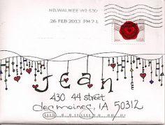 Decorated Envelopes, Mail Art, Snail Mail by Pato Garabato Fancy Envelopes, Mail Art Envelopes, Decorated Envelopes, Addressing Envelopes, Diy Envelope, Envelope Design, Letter Writing, Letter Art, Zentangle